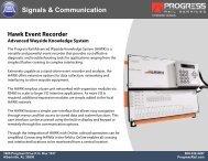Hawk Event Recorder - Progress Rail Services