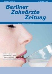 Berliner Zahnärzte Zeitung - Verband der Zahnärzte von Berlin