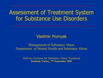 Mental Health Systems - UCLA Integrated Substance Abuse Programs