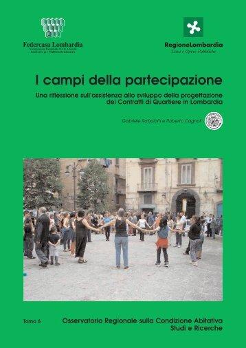 I campi della partecipazione - federcasa lombardia