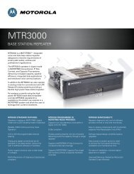 MTR3000 Base Station/Repeater Specifications