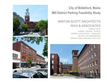City of Biddeford, Maine Mill District Parking Feasibility Study