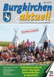 Sonderausgabe SFP & Wahl 2008 - Burgkirchen