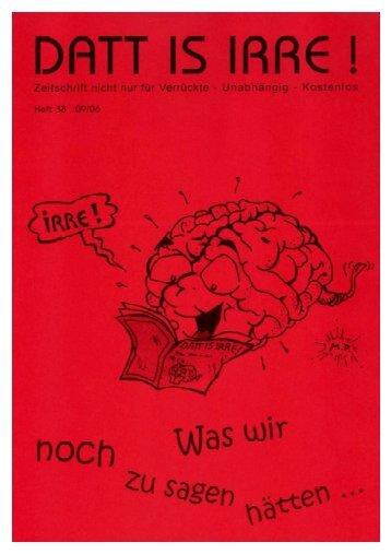 Zeitschrift nicht nur für Verrückte - Unabhängig ... - Dattisirre.de