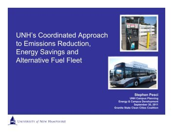 UNH Alternative Fuel Fleet Presentation - Granite State Clean Cities ...