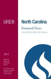 North Carolina - Southern Regional Education Board