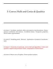 3: Convex Hulls and Conics & Quadrics