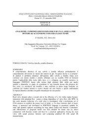 analisi del comportamento dinamico di una lamella per motori ad