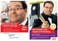 OKI Farbdrucker Trade-In Promotion.