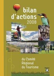 bilan d'actions - Val de Loire tourisme