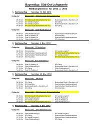 Termine 2012/2013 - SV Eichenlaub Schweitenkirchen eV