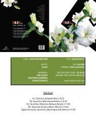 Download Release Sheet (PDF) - Dilek Records