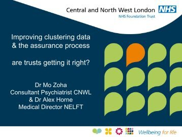 Workshop B – Improving clustering data the assurance process ...