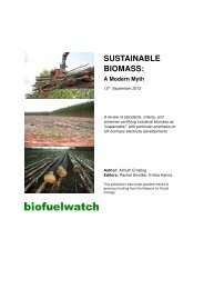 Sustainable Biomass: A Modern Myth - Global Forest Coalition