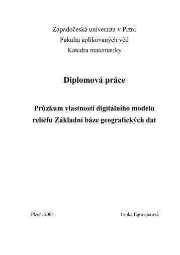 Diplomová práce - Geomatika na ZČU v Plzni - Západočeská ...