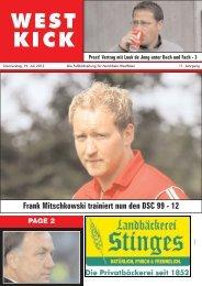 Aufstiegsfieber in Hauenhorst - Westkick