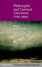 Introduction: German literature and philosophy - Developers