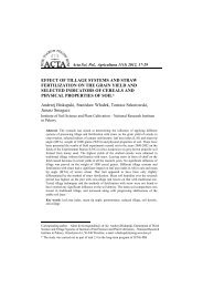 effect of tillage systems and straw fertilization on the grain yield and ...