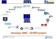 Turbine Aero-Thermal External Flows (TATEF2) - Aeronautics Days ...