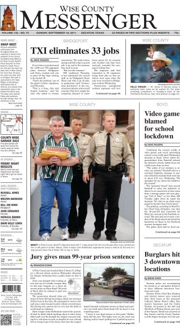 09-18-2011-Sunday - Wise County Messenger