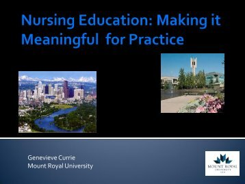 Making it Meaningful for Nursing Practice - Community Health ...