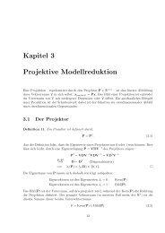 Kapitel 3 Projektive Modellreduktion - Lehrstuhl für Regelungstechnik
