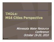 Track B - Water Resources Center - University of Minnesota