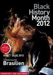 Black History Month 2012 - Werkstatt der Kulturen