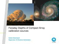 Faraday Depths of Compact Array calibration sources
