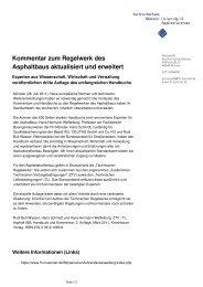 Kommentar zum Regelwerk des Asphaltbaus aktualisiert und erweitert
