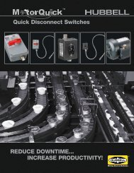 Quick Disconnect Switches - Hubbell Wiring Device-Kellems
