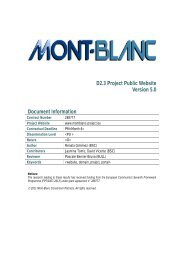 D2.3 Project Public Website - Mont-Blanc project