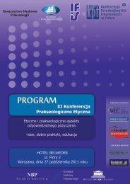 XI konferencja - Instytut Filozofii i Socjologii PAN