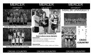 Cross country recruiting brochure.qxp - Mercer University
