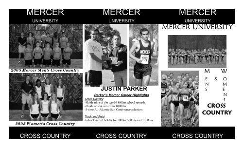Cross country recruiting brochure.qxp - Mercer University