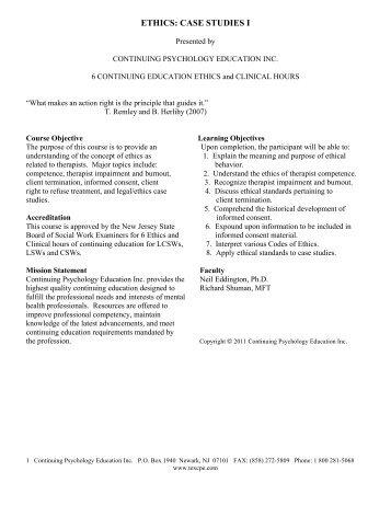 Ethics Case Studies - The Kenan Institute for Ethics at Duke University