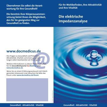 Die elektrische Impedanzanalyse www.docmedicus.de