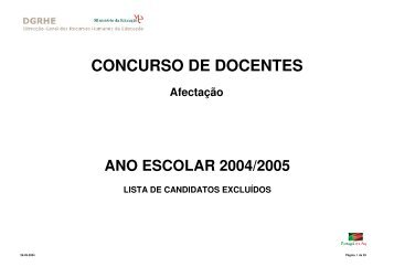 CONCURSO DE DOCENTES - Fenprof