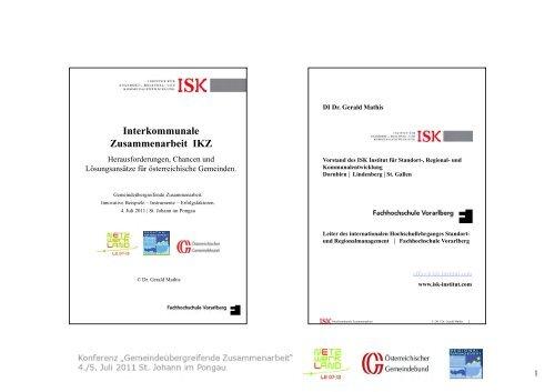 G. Mathis: Interkommunale Kooperationen - Netzwerk Land