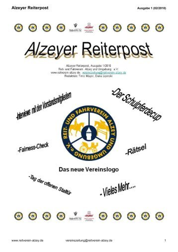Alzeyer Reiterpost - Reit- und Fahrverein Alzey und Umgebung eV