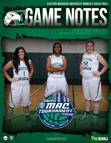 EMU Game Notes - Western Michigan University Athletics Department