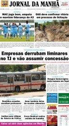 Empresas derrubam liminares no TJ e vão ... - Jornal da Manhã