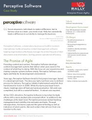 Perceptive Software Case Study - Rally Software