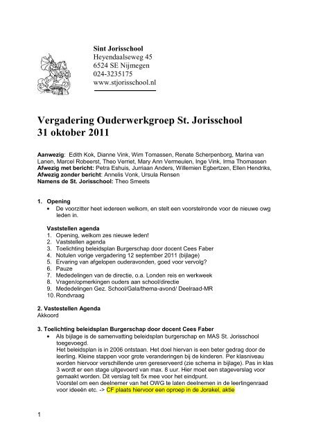 Sint Jorisschool St Jorisschool Nijmegen
