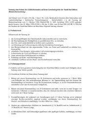 Satzung zum Schutz des Gehölzbestandes auf dem - Bad Düben