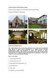 St John Fisher and St Thomas More Horderns Road, Chapel-en-le ...
