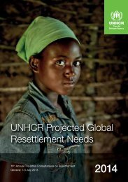 UNHCR Projected Global Resettlement Needs