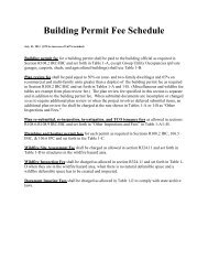Building Permit Fee Schedule