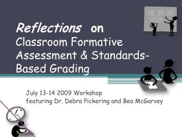 Reflections on Classroom Formative Assessment and Standards ...