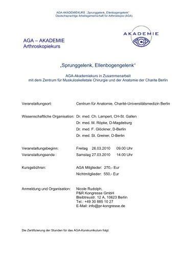 AGA Akademie kl. Gelenke